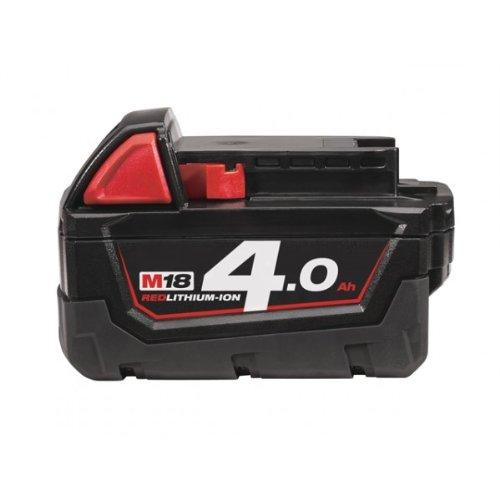 Milwaukee M18B4 - Batería de ión-litio (4,0A), color rojo