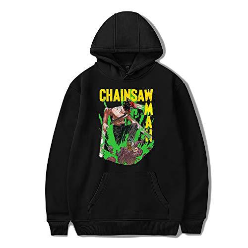 Anime Chainsaw Man Kobeni Pochita Sudadera con Capucha Hombres Cosplay Pullover Streetwear Chaqueta con Estampado de energía de Manga Larga para Hombres Mujeres jóvenes
