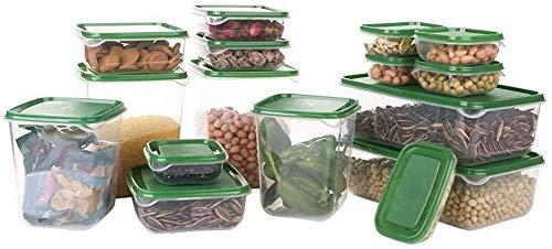 Storage jar Keuken Storage Box Voedsel Container van de Opslag - 7Sets - Sealed en lekvrije - koelkast Verse Kom - Geschikt for verwarming -Opslag doos keuken
