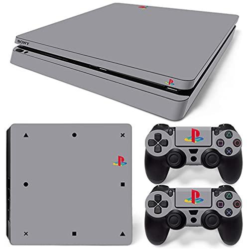 AXDNH Piel para PS4 Slim Calcomanía Negra, 2 X Pegatinas De Vinilo para PS4 Slim Controller/Gamepad, Adhesivo De Piel para...