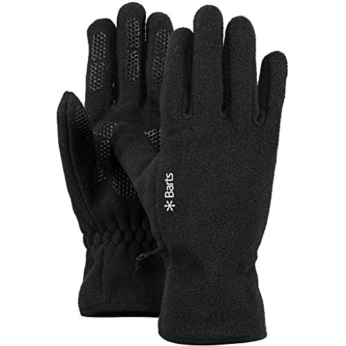 Barts Mens Ladies Polyester Fleece Gloves Black