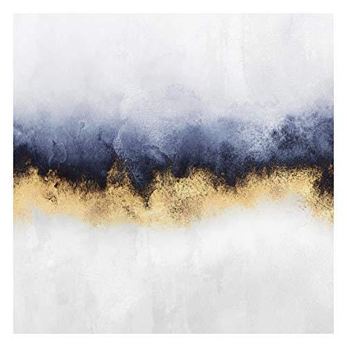 Bilderwelten Fototapete Premium - Wolkenhimmel mit Gold - Vliestapete Quadrat 336 x 336cm