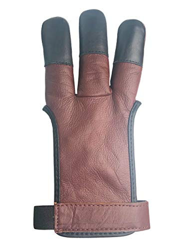 ArcheryMax Leather Shooting Glove 3 Finger Archery Glove