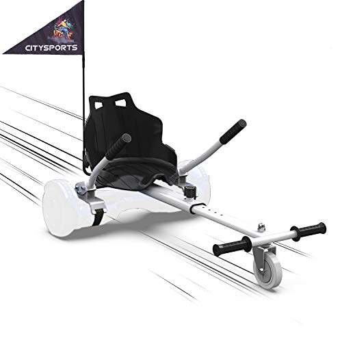 MARKBOARD Kart per Hoverboard Go Kart per Hoverboard di 6.5 8 10 Pollici (Bianco)