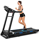 ANCHEER Treadmill, 3.25hp, App Control, Folding Treadmill Machine for Home with Automatic Incline, for Running, Walking, and Jogging, Portable Treadmill for Home, Gym, Office Workout. (Black)