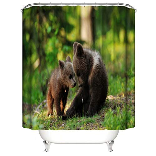 Shower Curtain. Waterproof. Shower Curtain Rod Ring Hook. Background. Party. Living Room.Contains 12 Hooks. Bathroom Accessories.Cute Little Bear.