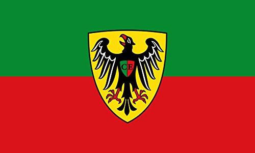 Unbekannt magFlags Tisch-Fahne/Tisch-Flagge: Esslingen am Neckar 15x25cm inkl. Tisch-Ständer
