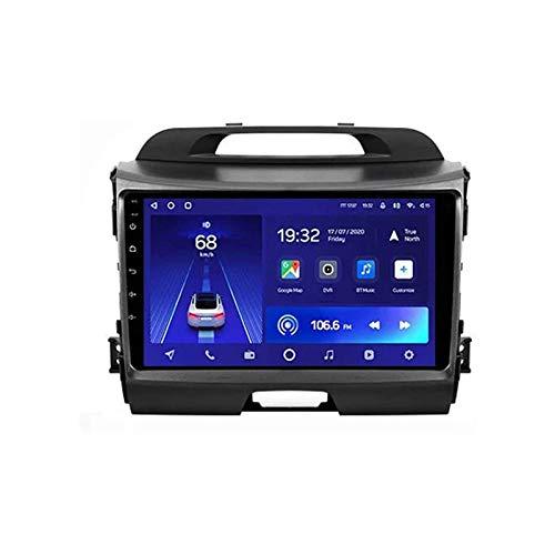 Reproductor multimedia estéreo de coche con pantalla táctil HD de 9 pulgadas para Kia Sportage 3 SL 2010-2016 con GPS Wifi 4G Bluetooth FM SWC Mirrorlink receptor de vídeo, 4 Core 4G+WiFi: 2+32 GB