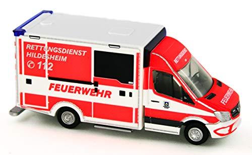 Rietze 72045 was Design RTW Berufsfeuerwehr Hildesheim Feuerwehr 1:87 Neu