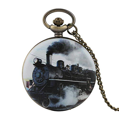 LEYUANA Tren de Oro Plateado Tallado Steampunk Gears Esquele