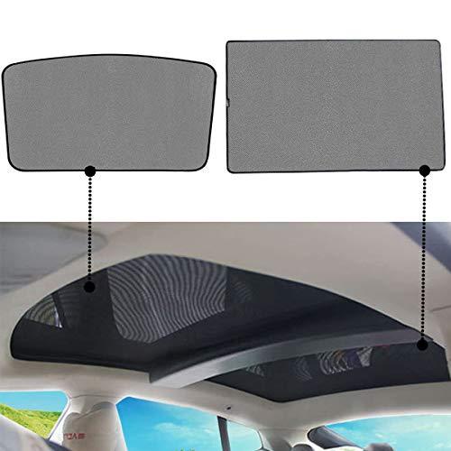Topfit Model S Sonnenschutz Autodach Sonnenblende Heckscheibe Schutzvorhang für Model S (Sunshade-2pcs)