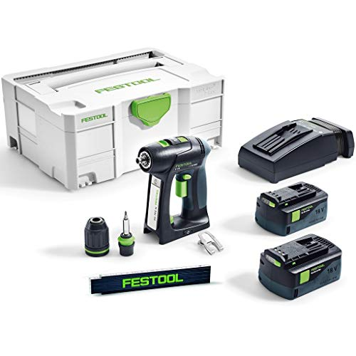 Festool accuboormachine C 18 Li 5,2-Plus in Systainer 574738 + meterstaaf