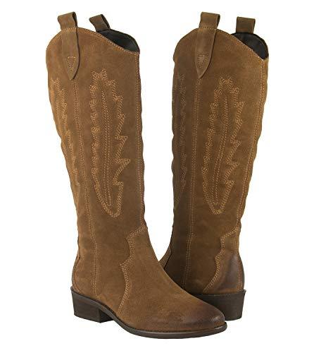 Zerimar Botas para Mujer | Botas Mujer Cowboy | Botas Mujer Piel | Botas Mujer Piel Vestir | Botas Cowboy Mujer Piel | Zapatos Mujer Piel