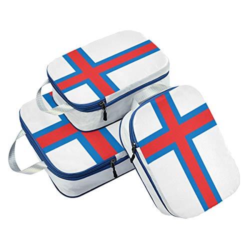 Juego de 3 Cubos de Embalaje de la Bandera de Las Islas Faro