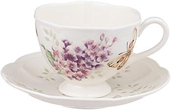 Lenox Butterfly Meadow Orange Sulphur 8-Ounce Cup & Saucer Set