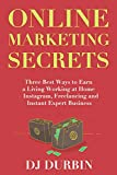 Online Marketing Secrets: Three Best Ways to Earn a Living Working at Home – Instagram,...