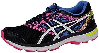 ASICS Women's Gel-Excite 4 Running Shoe, Black/White/Knockout Pink, 9 M US