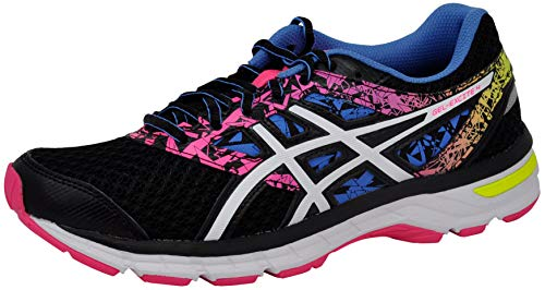 ASICS Women's Gel-Excite 4 Running Shoe, Black/White/Knockout Pink, 8.5 M US