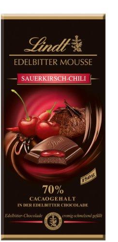 Lindt & Sprüngli Edelbitter Mousse Sauerkirsch Chilli, 3er Pack (3 x 150 g)