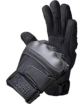 TAC9ER Tactical Gloves with Kevlar - Hand Protection Airsoft Gloves Cut and Temperature Resistant with Touchscreen Finger - Extra Large