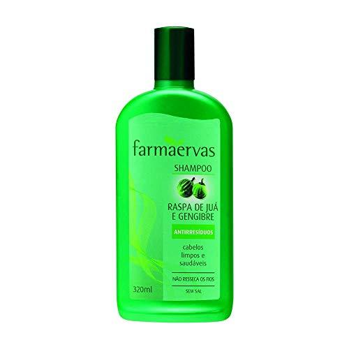 Shampoo Raspa de Jua e Gengibre, Farmaervas, Incolor, 320Ml