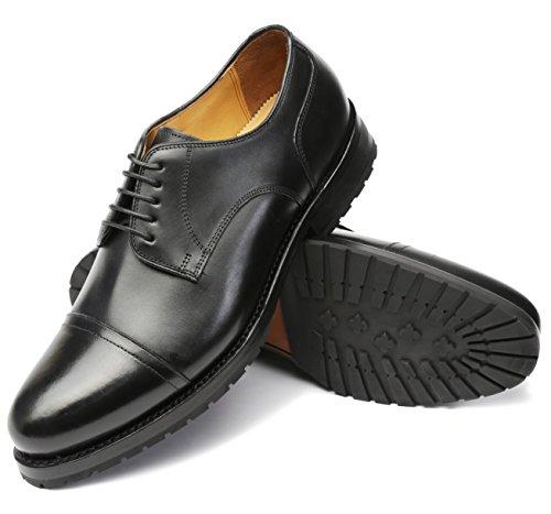 Gordon & Bros Herren Schnürhalbschuhe Levet 3297, Männer Businessschuhe, rahmengenäht, mit Gummi-/Ledersohle, Schwarz (Torino Black), EU 45