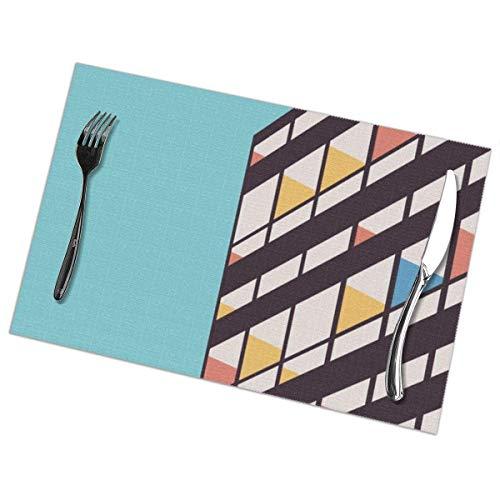 Felsiago - Juego de 6 manteles individuales lavables para mesa de comedor Le Corbusier, manteles individuales lavables para mesa de comedor de 12 x 18 pulgadas