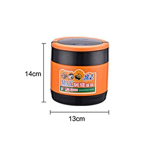 Isolierter Lebensmittelbehälter aus Edelstahl / 3-lagige Brotdose/Vakuum/Zuhause/Picknick im Freien/Isolierung-1400ML