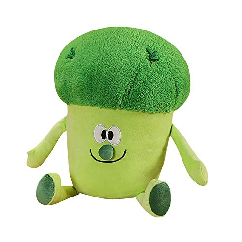 jieGorge Cauliflower Doll Plush Toy Creative Doll Broccoli Doll Food Pillow 35cm, Pillow Case, Home Products for Christmas Day (Green)