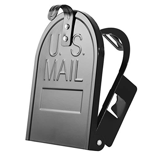 "YLOVAN""Snap-in"" Mailbox Door Replacement - Cast Aluminum Door and Frame 6 1/4 Inch (Width) by 8 Inch (Height) - Black"