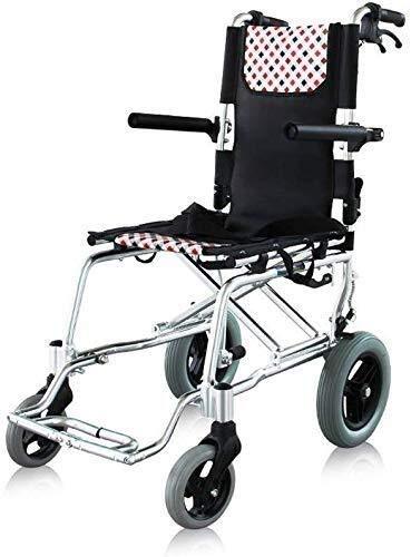 Life Accessories Sillas de ruedas Titanio Aleación de aluminio Marco liviano y plegable Silla de ruedas propulsada por asistente Silla de viaje portátil de tránsito Pesa solo 8.5Kg