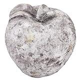 Apfel Vintage Deko Objekt Steinguss 12x11x11cm grau