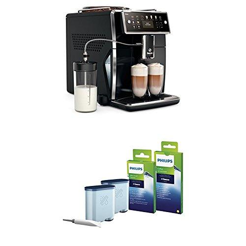 Saeco Xelsis SM7580/00 Kaffeevollautomat (LED Display, DE Version) pianoschwarz, mit Rundum-Pflegeset