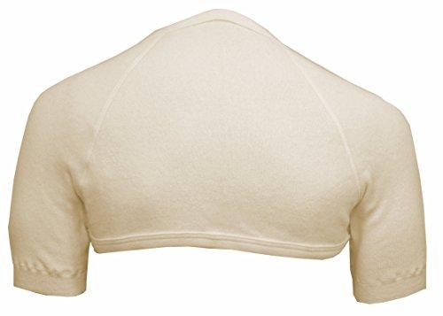 Schulterwärmer mit hohem Nacken aus 70% Angora von wobera (Gr. M, Farbe: beige)