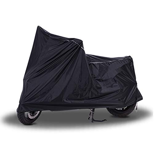 HWHCZ Fundas para Motos Compatible con la Cubierta de Moto POLINI 911 de Aire 6, Protector Solar a Prueba de Viento Impermeable a Prueba de Polvo, Cubierta de Moto Universal Negro