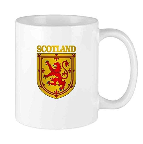 Taza de café divertida Taza personalizada de Escocia (COA) Regalo de vacaciones de cerámica único para hombres y mujeres que aman las tazas de té y la taza de café 12 oz