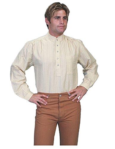 Scully Rangewear Men's Rangewear Lightweight Railroader Long Sleeve Western Natural Medium