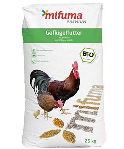 mifuma Premium Bio Legekorn 25 kg Hühnerfutter GeflügelfutterWachtelfutter Entenfutter Putenfutter