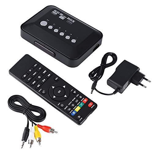 HDMI multimediaspelare 1080P HD mediaspelare med fjärrkontroll för 1080P USB SD MMC MP3 RMVB AVI, MPEG, DivX MKV, EU-kontakt 110 V-240 V (EU)