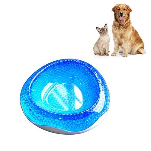 Amusingtao Tazón para mascotas Frosty Bowl enfriador para mascotas que mantiene el agua fresca y fresca durante horas Perro gato de refrigeración rápida