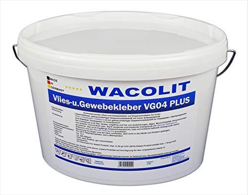 4 kg WACOLIT Vlies- u. Gewebekleber, Fertigkleber Vlieskleber für Glattvlies Renoviervlies Vliestapeten