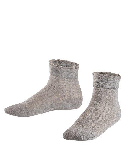 FALKE Kinder Socken Romantic Net - 83% Baumwolle, 1 Paar, Grau (Concrete Melange 3615), Größe: 31-34