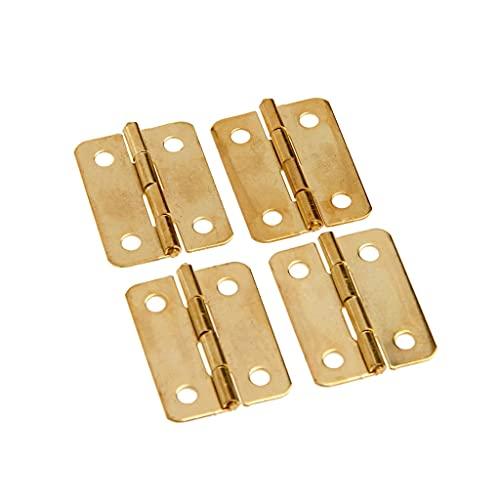 GANFANREN 4 unids Puerta de cajón de Hierro Caja de joyería Muebles Muebles Vino Caja de Madera Bisagras 24 * 18mm Mini bisagras Decorativas de Oro con Tornillos