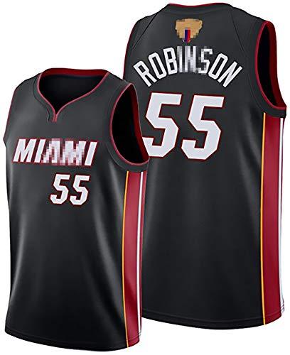 EDFG Männer Basketball-Trikots für das Neue 55# Robinson- schnell trocknende und atmungsaktive Basketballkleidung, ärmellose schnell trocknende Weste, geeignet für Baske Black-XXL