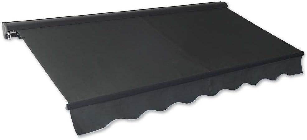 Jawoll Cartuchos de toldo 4,0x 2,5m Antracita (Perfil de Color: Antracita) Protección Solar Aluminio Sombra Toldo Toldo Hülse Brazo articulado de toldo Toldo