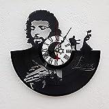 Vinywoody Flamenco Legenda Musica española Reloj de Pared de Disco de Vinilo