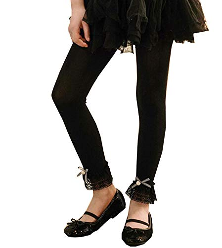 Black Temptation Sweet Lace Design Mädchen Hose Strumpfhose Leggings Mädchen Strümpfe Mädchen Strumpfhosen Great Gift für Kinder, E
