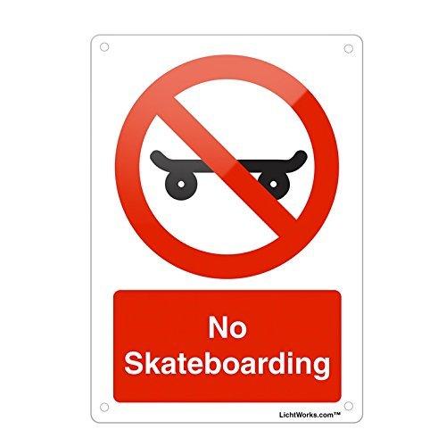Ditooms verboden metalen bord geen skateboarden, 12