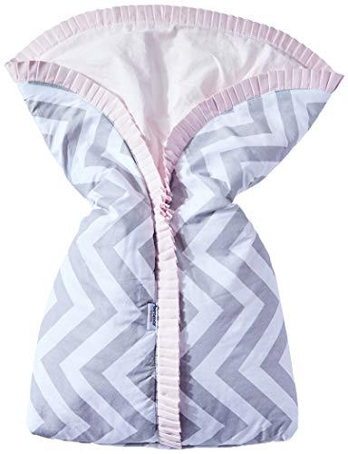 Porta bebe estampa brooklyn chevron cinza/rosa, Biramar Baby, Rosa
