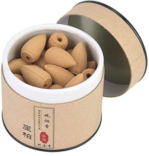 HEEPDD Conos de Incienso, 40 Unidades de Conos de sándalo Natural con Flujo de Humo para Uso en...